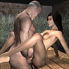 Sexy witch seduced padre 3D xxx comics