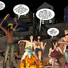 Hippy orgy on public beach 3D xxx comics anime